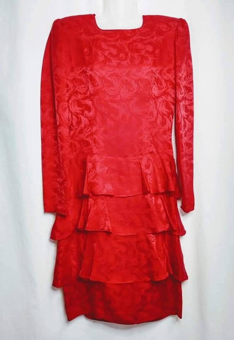 Vintage 1980s Argenti dress silk