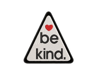 3.875 X .875 Iron On or Sew On Be Kind Patch
