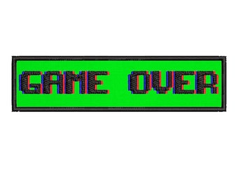 Embroidered Patch Pixel Gamer Set eSport Sega Game Over Retro Video Game Iron On  DIY Sewing Cute Costume Clothing Accessories Applique Gift
