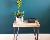 Industrial style rustic scaffold side table