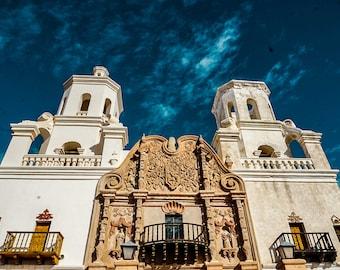 Mission San Xavier del Bac Photography Print, Tucson Arizona