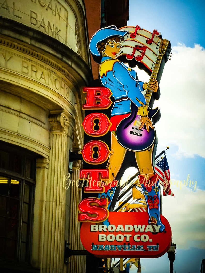 Boots Broadway Boots Co in Nashville Photography Print image 1