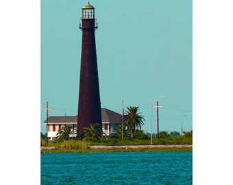 Port Bolivar Lighthouse Photography Print