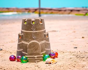 Sandcastle on the Beach Photography Print