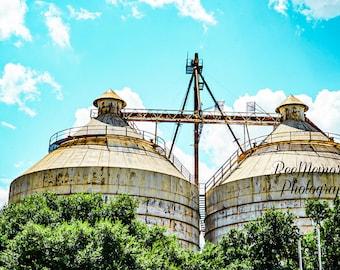 Silos, Magnolia Market, Waco Texas Photography Print, Physical Print,