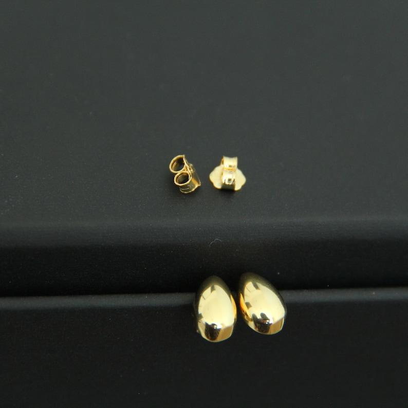 Water Drop Stud Earrings Chunky Bold Dot Studs Sterling Silver Ball Studs Waterdrop Teardrop Studs Dainty Minimalist Best Gift Gold