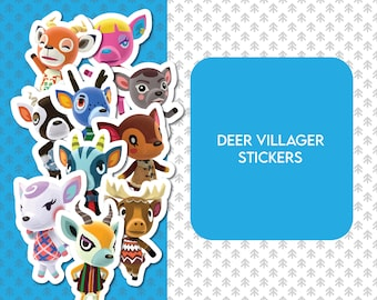 Deer Villagers Stickers Animal Crossing New Leaf Fuchsia Etsy