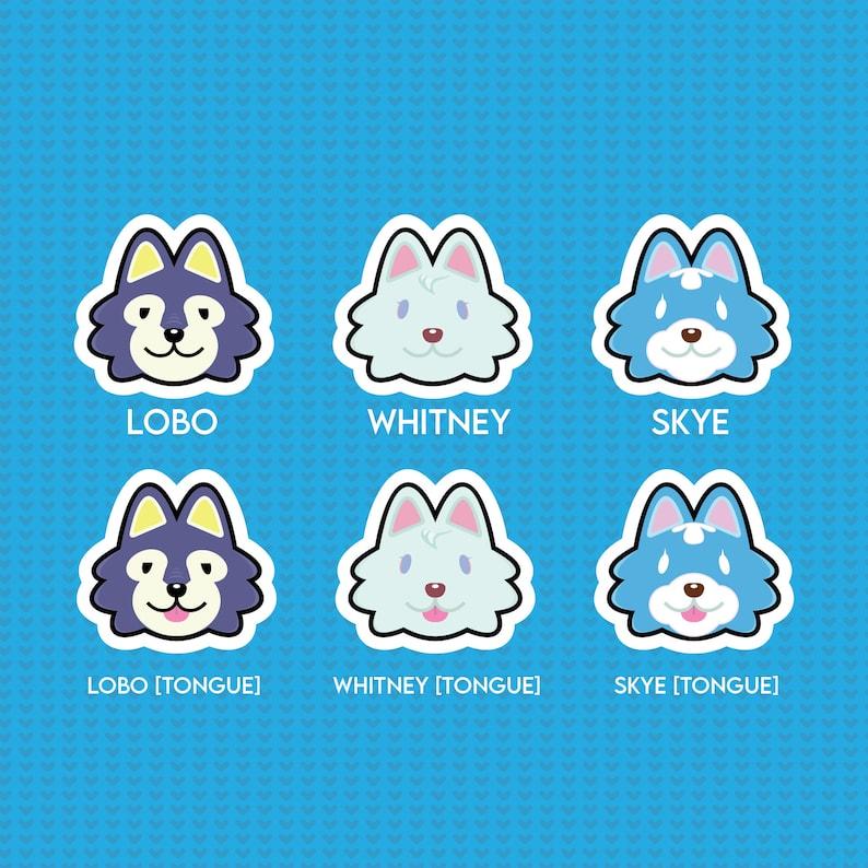 Animal Crossing: Wolf Villager Sticker Audie Jefe Dobie | Etsy