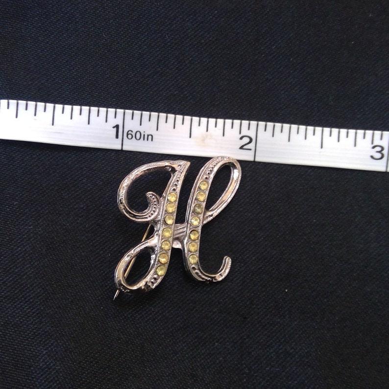 Letter H lapel or beret pin