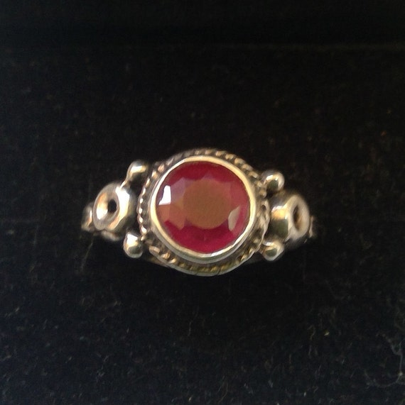 Ruby and 925 sterling silver ring - image 1