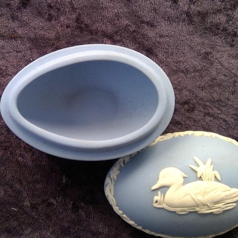 Wedgwood jasper wear  egg shaped 1979 trinket box
