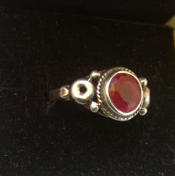 Ruby and 925 sterling silver ring - image 2