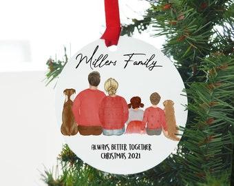 Christmas Ornament Family 2021, Xmas Ornament Family, Customized Holiday Ornament, customized Christmas Family, personalized family ornament