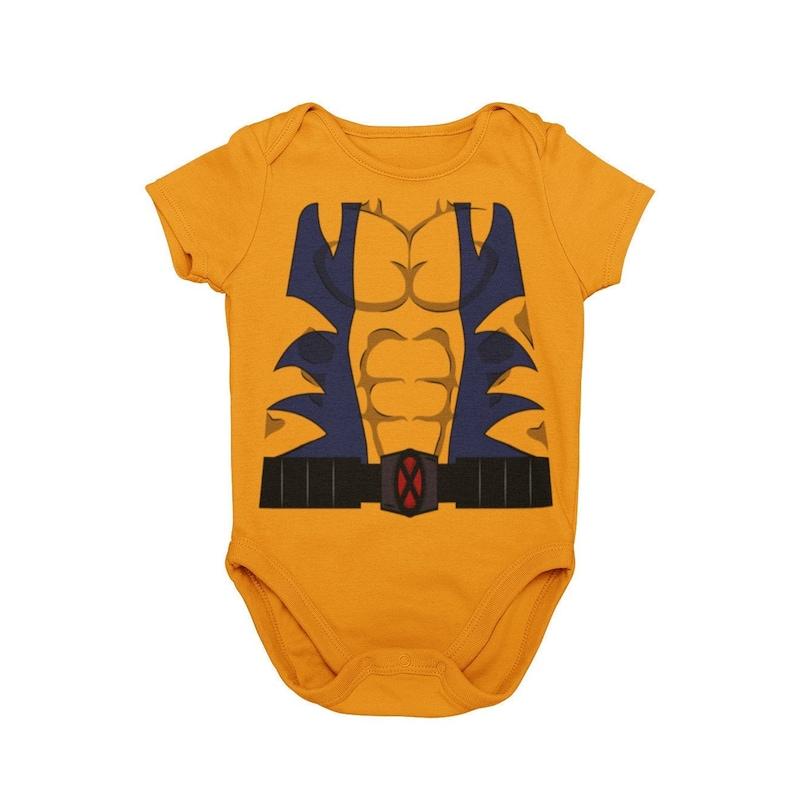 Baby Wolverine Halloween Costume Bodysuit Baby Mutant Cosplay Comic Superhero Halloween Costume Bodysuit Unique MNSSHP Costume|Baby Gift