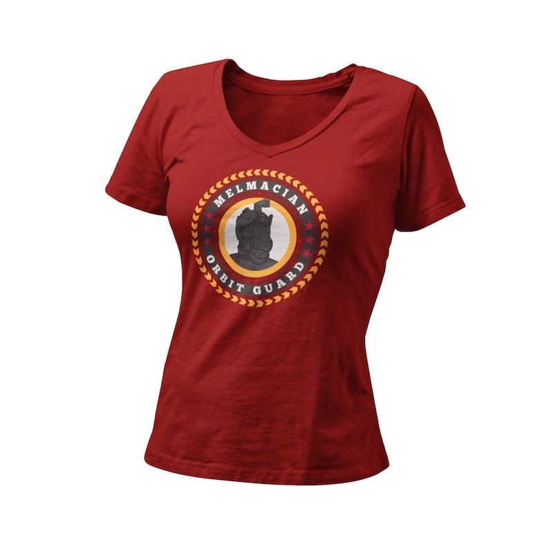 Alien Life Form T-Shirt 80\u2019s Throwback Unique Gift Shirt Orbit Guard Women\u2019s Fitted V Neck Shirt 80\u2019s Retro Cartoon Graphic Tee