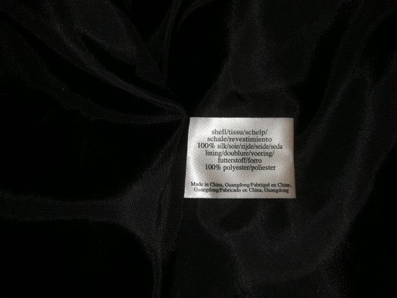 Laura Ashley vintage black and white silk dress
