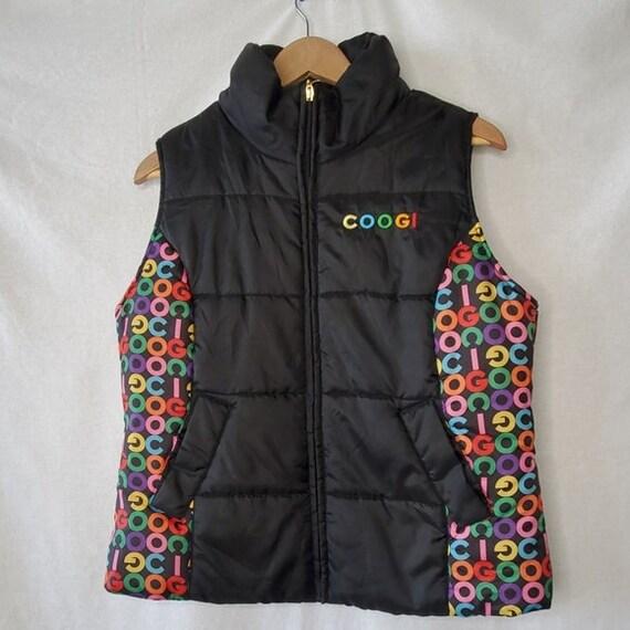 Coogi Vintage 90s Puffer Jacket Vest / Black with