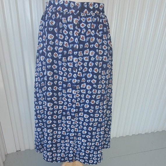 Vintage Russ Floral Button Front Skirt