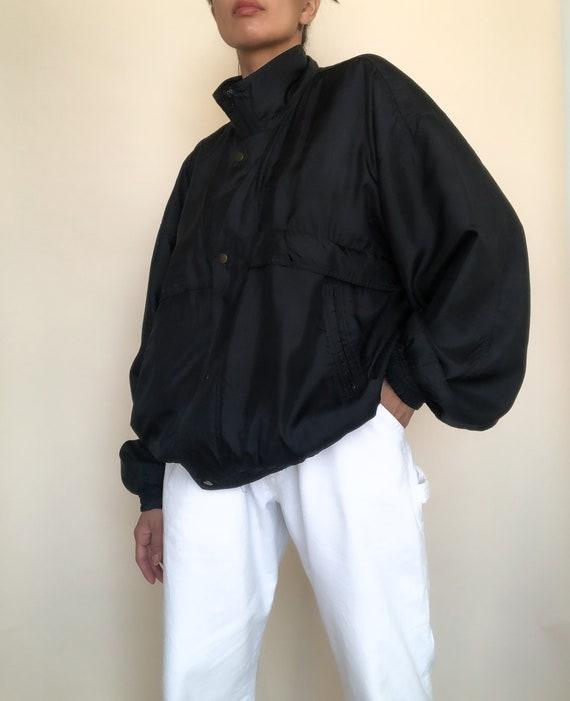Men's Black Silk Sports Jacket