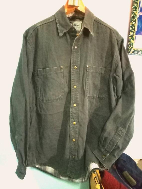 Vintage LL Bean Workwear jacket mens 80s 90s heavy
