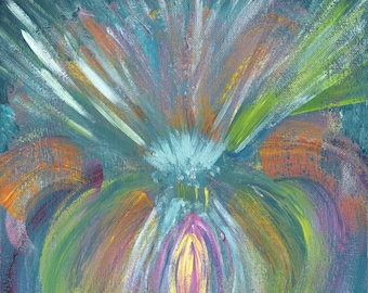 Engaged Within-Limited Edition Giclee Print-7th Chakra Acrylic Painting