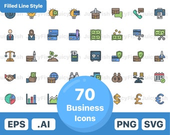 Law Icons In Vector And Png Etsy