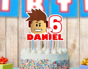 Roblox Cake Topper Etsy