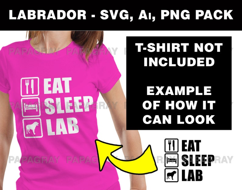 Labrador BUNDLE Pack 16 Designs Labrador Vector Labrador SVG Dog Phrases Digital Download Labrador PNG Labrador T-Shirt Designs