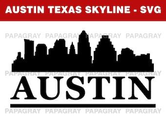 Austin Skyline SVG | Digital Download | Austin SVG, Austin PNG, Austin Texas Vector, United States, Texas Svg, Texas Silhouette, Texas Png