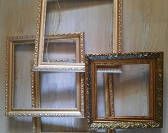 Four Lovely Antique/ Vintage Wooden Frames - Read Description for Inside and Outside Sizes