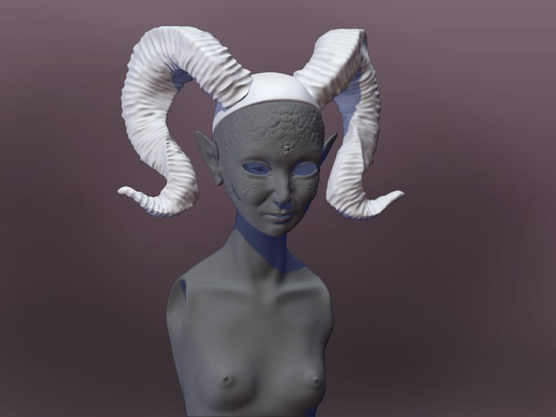 3D printer Ball jointed doll Scary doll Creepy dolls STL file Demon doll  living doll \u0421ollectible doll OOAK dolls Art creation 3D horns