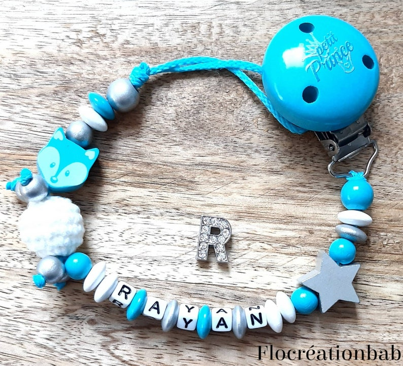 a crochet bead white and silver wood Custom nipple attachment in turquoise blue