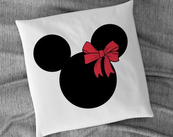 Mouse Ears with red Bow CLIPART, JPG, PNG, To use for printing on fabrics, designing Invitations, Cards, Stickers, Instant Download