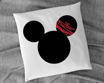 Mouse Ears with red Strings CLIPART, JPG, PNG, To use for printing on fabrics, designing Invitations, Cards, Stickers, Instant Download