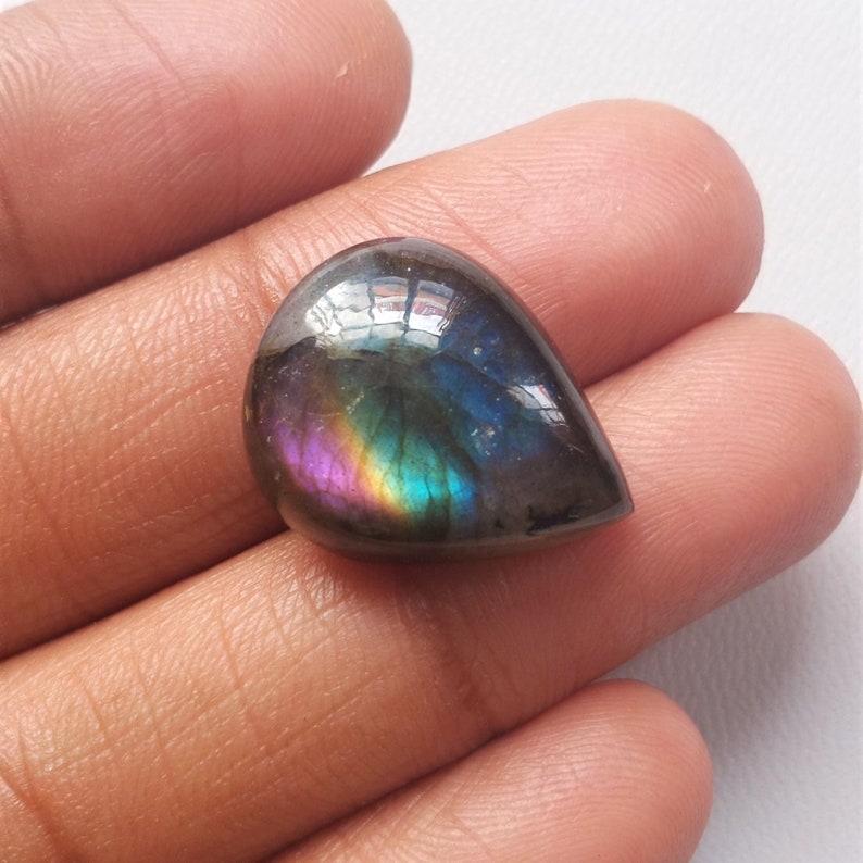 Purple Labradorite Cabochon Gemstone 49.05 Cts Fancy Shape Best For Silver Wire Wrap Jewelry Very Rare Multi Purple Labradorite