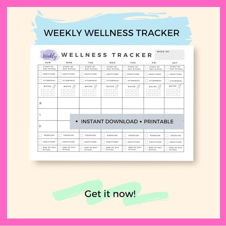 Wellness Tracker Health and Wellness Tracker Wellness image 0