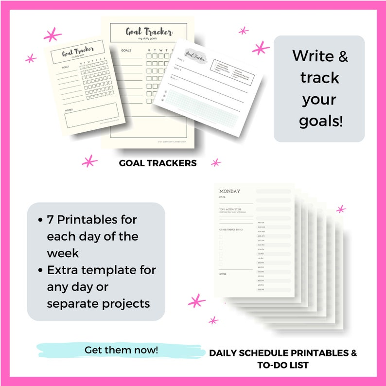 Printable Schedule To Do List Printable Worksheet for Goals image 1