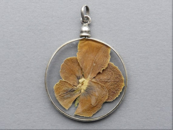 Wild Pansy. Antique Pendant.