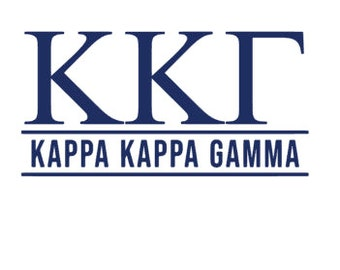Officially Licensed Kappa Kappa Gamma 8 x 3 Window Decal Blue