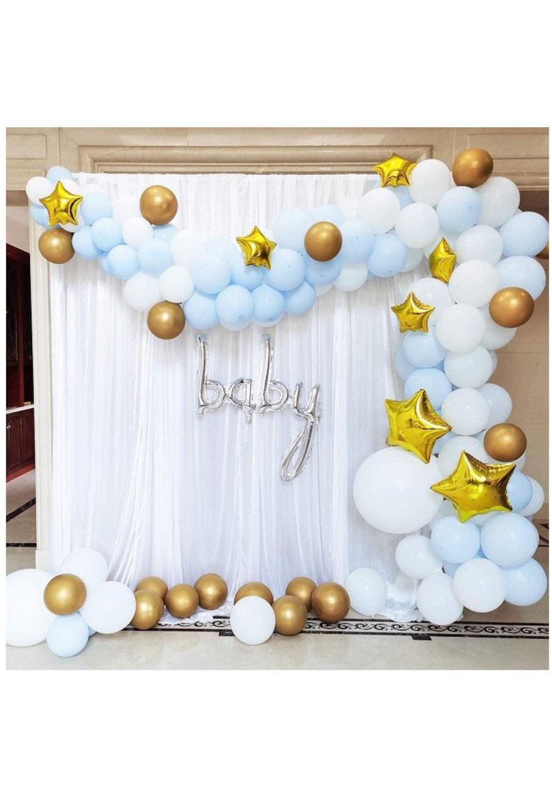 Twinkle Twinkle Little Star Balloon Garland Kit Baby Boy image 0