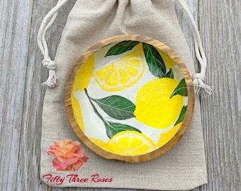 Lemons - Lemon Dish - Lemon Decor - Jewelry Dish - Ring Dish - Jewelry Holder - Trinket Dish - Home Decor - Farmhouse Decor - Gift Ideas