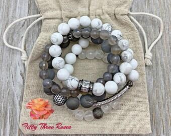 Gemstone Bracelet Stacks