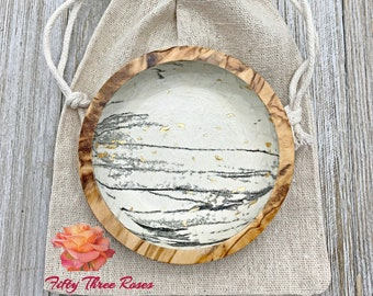 Olive Wood Ring Dish