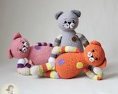 FREE amigurumi pattern Cute Cats Pattern Kittens Crochet Kitten DIY easy Tutorial Kitty