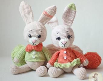 Free Amigurumi Bunny With Carrot Crochet Pattern - Free Amigurumi ... | 270x340