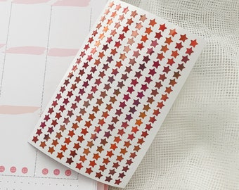 Holographic Rose Gold Tiny Star Stickers