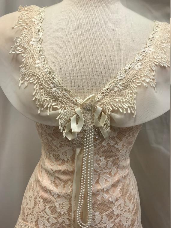 70's romantic vintage lace dress