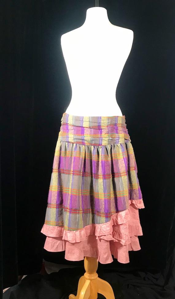 Vintage fairycore y2k plaid layered skirt by Rebl - image 1