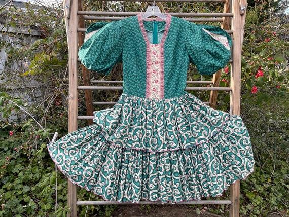 Vintage cottagecore square dance dress - image 1