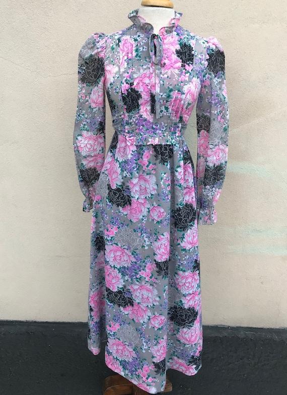 Young Edwardian vintage boho floral maxi dress